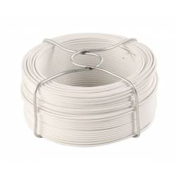 Fil d'attache plastifié blanc 50 m