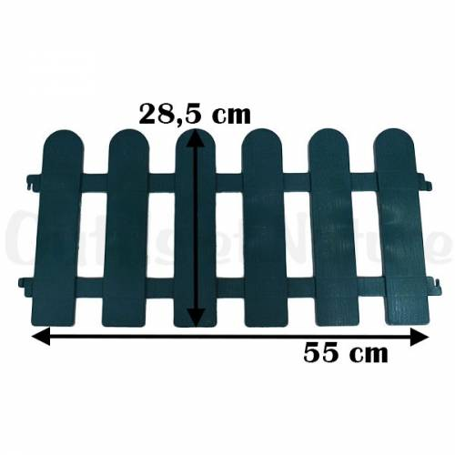 Bordure de jardin en PVC (lot de 4)