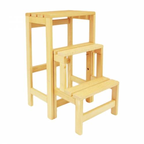 Escabeau tabouret transformable 2 marches tablette - Escabeau 3 marches ...