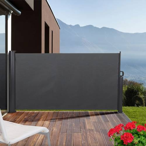 pare vent retractable pour terrasse 3 x 1 4 m outils et. Black Bedroom Furniture Sets. Home Design Ideas
